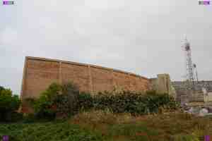 Il Widna (the ear) sound mirror building Maghtab, Malta. Sound early warning radar designed buidlings