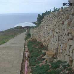 UNESCO Mnajdra complex temples malta protection protective sheet design