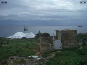 Mnajdra temple protective tent shelter covering malta photograph