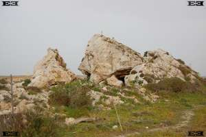 il Pellegrin headland angled boulders scree Maltese Islands
