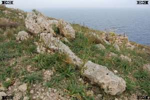 liths bautastenar Mtahleb west coast malta cliffs