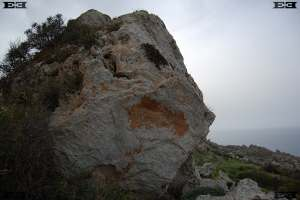 straight lines sides boulders malta geology