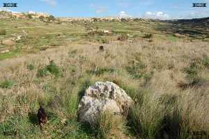 Ta Baldu cliffs from west coast of malta near underground chapel