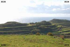 terraformed terraced hills astronomy solar observatories complexes malta near Dingli Cliffs
