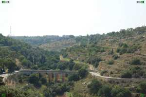 The Victoria Lines in Malta photographs - gharghur bridge rainy age malta and a dry river valley